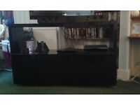 High Gloss TV Stand and Cupboard
