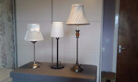 Table/bedside lamps.