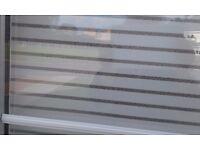 White Roller Blind for Patio Door