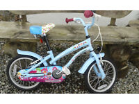 Girls bike. Ages 5 - 8. 'Cherry Lane'. VGC