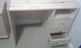 Solid wood childs desk