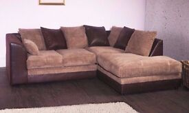 70% DISCOUNTED OFFER***BRAND NEW JUMBO CORD BYRON CORNER / 3+2 SOFA SET -GET IT TODAY