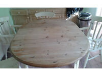 Shabby chic Pine Dining Table & Chairs
