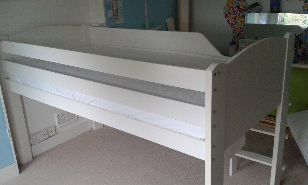 Aspace Mid Sleeper Bed, White - Good Condition