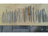 Fine woodworking files and chisels