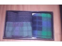 Boxed Boxer and Sock Gift Set