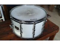 Tama vintage Artwood Maple snare drum 14 x 9 in white