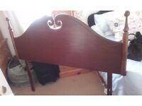 4' 6 double headboard -