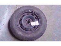 972 Ac MK4 VW GOLF BORA STEEL WHEEL WITH CONTINENTAL TYRE 175/80/R14 5X100