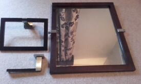 Next bathroom mirror, toilet roll holder & towel ring