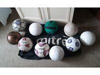 footballs size 5 & large Mitre bag