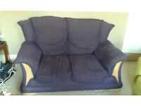 Lovely purple cord sofa - comfy and perfect size for Sheffield house