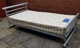 single-size bed. Jaybe brand. Good condition. (£44 with Silentnight mattress, or £26 without mattres