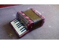 VINTAGE HOHNER MIGNON 1 MINI PIANO ACCORDION