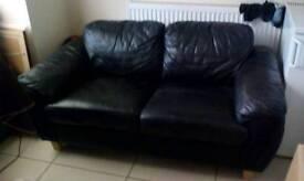 Small leather sofa