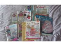 Job Lot of cake making, cake decorating and cupcake magazines