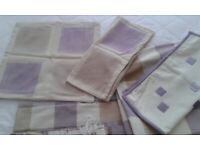 Lilac & Beige cushion covers & Quilt Set