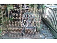 Pair of vintage gates