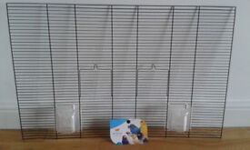 5New Ferplast spares or Breeding Bird Cage hutch mesh front panels some with doors and Brava Feeders