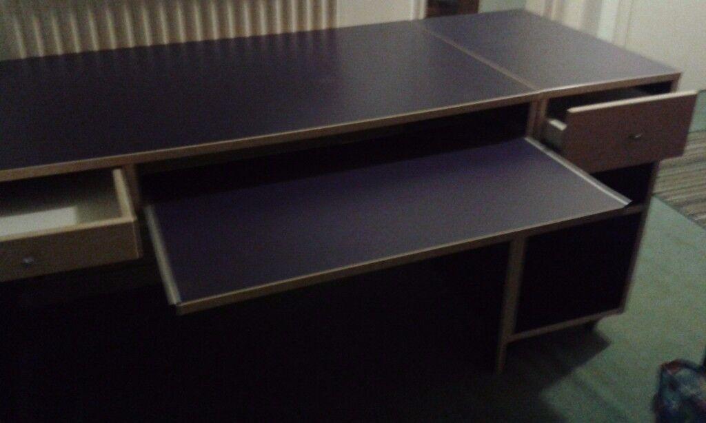 Desk and Wall Shelf Unit