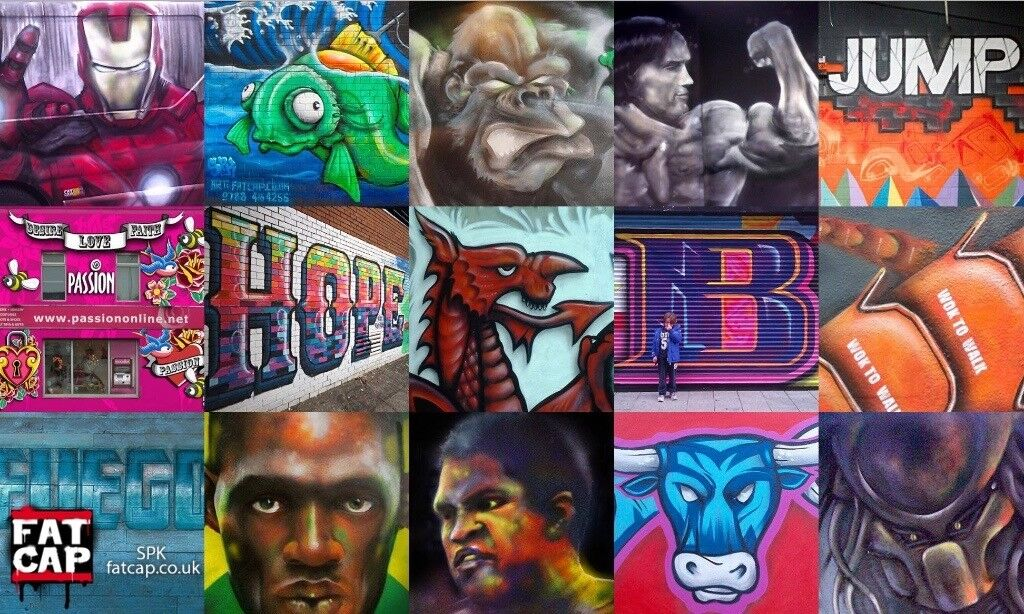 Nationwide UK Street Art / Mural / Graffiti Artist / Sign Writer - Professional International