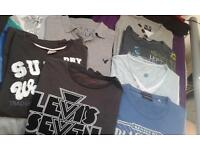 mens t shirts includes superdry & levis