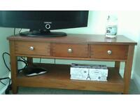 Tv/coffee table dark wood matching bookcase/shelf unit available