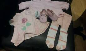 Tiny baby annabell clothes set