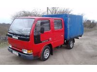 NISSAN CABSTAR LHD LEFT HAND DRIVE ORGINAL DOUBLECAB 7 SEATS LIKE CANTER VERY GOOD EXPORT AFRICA