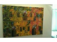 2 x pictures one canvas one ceramic