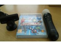 PS3 Sports Champions Game, Motion Controller and Eye Camera