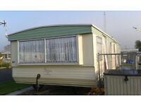 35 feet x 12 feet 8 berth static caravan to rent in Skegness