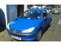 2002 Peugeot 206 1.1 Style blue EGJ BREAKING FOR SPARES