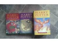 Set of 3 Harry Potter Books