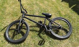 matt black stunt bike khe tyres prism brakes