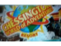 Chessington world of adventures. 2x tickets. 19/04/2018