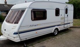 Sterling Europa 520 4 berth caravan 2001