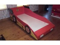 Car bed and matching unite £140 memory foam mattress good condition call or text