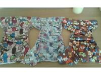 Reusable cloth nappies and inserts