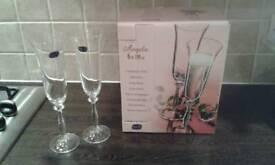 6 Champagne Flutes