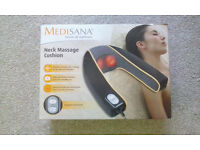 Medisana neck massage cushion with heat option and accessories