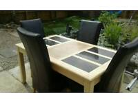 Table and four chairs £50 or best offer
