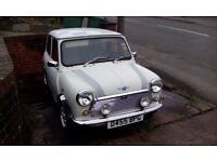 Classic Mini: 1987 Austin Mini Advantage, white with original decals.