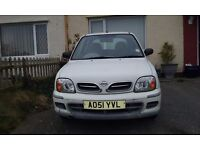 51 plate Nissan Micra , low insurance lovely first car,mot nippy run around.Low mileage.3 door
