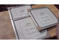 "THREE PICTURE/PHOTO FRAMES 16""x 16"". THE CLASSIC COLLECTION-STILL IN PACKAGING. COLLECT REDDITCH B98"