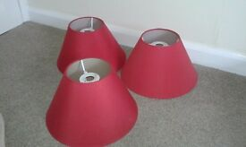3 x matching red lamp shapes