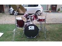CB Drum Kit in deep red