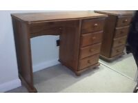 four drawer solid pine dressing table