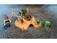 Playmobil Meerkat Zoo Set (Lovely Condition)