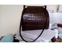 Vintage leather shoulder bag Escada
